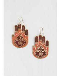 Mata Traders Harmonious Hands Dangle Earrings - Multicolor