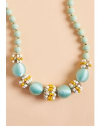 ModCloth - Gotta-have Glam Beaded Necklace In Mint - Lyst