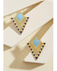 Mata Traders - The Echo Of Deco Earrings - Lyst