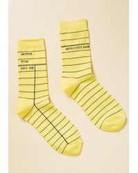 Out Of Print - Periodical Perfection Knee Socks - Lyst