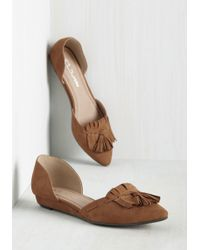CL By Chinese Laundry - If Looks Could Kiltie Flat In Tawny - Lyst