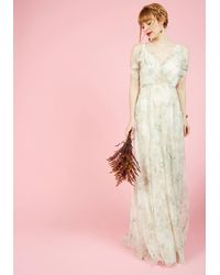 Jenny Yoo - A Gliding Light Maxi Dress In Ivory - Lyst