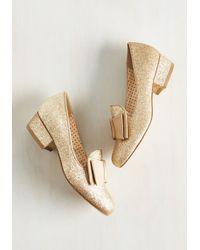 Bait Footwear - Paris, Prance Metallic Heel In Or - Lyst