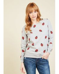 Sugarhill - Put A Bug In Your Cheer Cotton Sweatshirt - Lyst