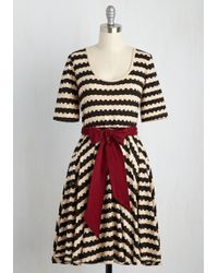 Effie's Heart - Exhibition Marks The Spot A-line Dress In Stripes - Lyst