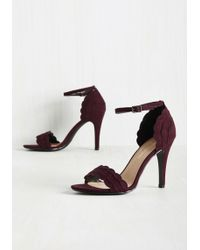 Fortune Dynamic   Have The World By Detail Heel In Garnet   Lyst