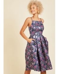 Appareline - Ritz And Wisdom A-line Dress In Midnight Blue - Lyst