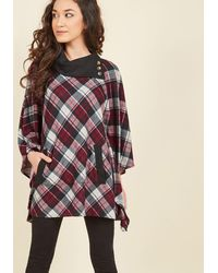 East Concept Fashion Ltd - Sweet As Cider Plaid Sweater In Rhubarb - Lyst