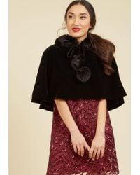 Collectif Clothing - Spirited Sleigh Ride Velvet Cape - Lyst