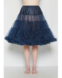 Hell Bunny London - Va Va Voluminous Petticoat In Navy - Long - Lyst
