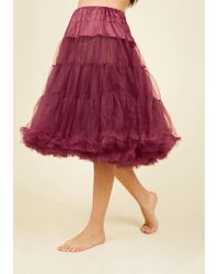 Hell Bunny London - Va Va Voluminous Petticoat In Raspberry - Long - Lyst