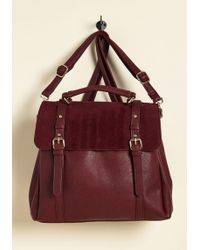 Triple 7 - Stop, Rock, And Roll Convertible Bag In Burgundy - Lyst