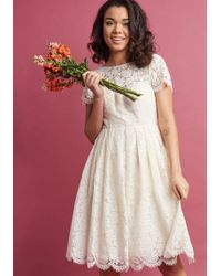 Jenny Yoo - Wear And Wow Fit And Flare Dress In Ivory - Lyst
