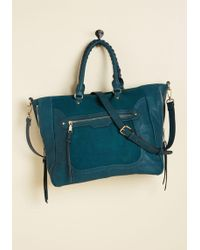Moda Luxe - Tasks All Over Town Bag In Teal - Lyst