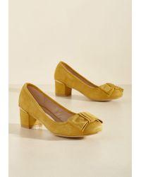 N.y.l.a. - Go For Glam Vegan Heel In Marigold - Lyst