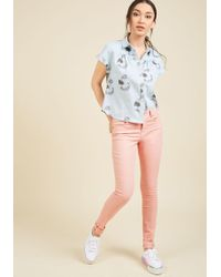 ModCloth - Obviously Elemental Skinny Jeans In Cotton Candy - Lyst
