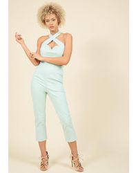 Collectif - Sassy Spectacle Halter Jumpsuit - Lyst