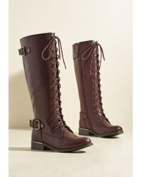 Wanted Shoes - By Land, Sea, Or Flair Boot In Mahogany - Lyst