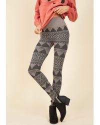 Boom Boom Jeans - Shape A Leg Leggings In Tan Geo - Lyst