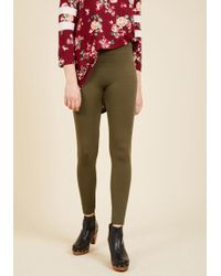 Boom Boom Jeans - Crazy For Cozy Fleece-lined Leggings In Olive - Lyst