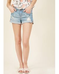 Eunina, Incorporated | Just Enough Cuff Denim Shorts | Lyst