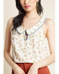 ModCloth - Just As Imagined Sleeveless Top In Blossom - Lyst