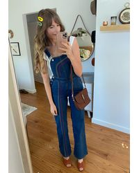 ModCloth Rainbow With Me Overalls - Blue