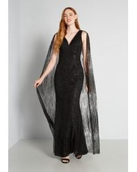 Bariano Cloaked And Loaded Maxi Dress - Black