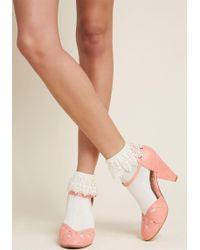 ModCloth - Primly Trimmed Socks - Lyst