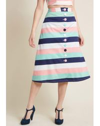 Collectif - Dressed With Whimsy Midi Skirt - Lyst