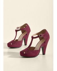 ModCloth - The Zest Is History Heel In Burgundy - Lyst