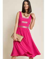 ModCloth - Trademark Sway Trimmed A-line Dress - Lyst