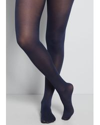 ModCloth Layer It On Tights - Blue
