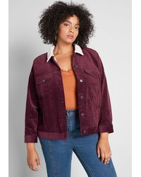 ModCloth A New Adventure Corduroy Jacket - Red