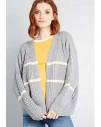 ModCloth - State Of Cozy Striped Cardigan - Lyst