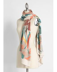 ModCloth Are You Feeling Bouquet? Scarf - Long - Multicolor