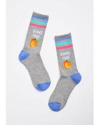 ModCloth - Shake That Peach Socks - Size Os - Lyst