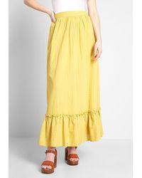 ModCloth Prairie Much So Maxi Skirt - Yellow