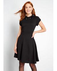Hell Bunny A Glitz Touch A-line Cotton Dress - Black