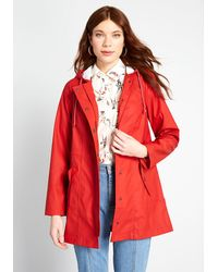 ModCloth At All Showers Raincoat - Red