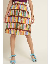 ModCloth Flit And Flirt A-line Skirt - Red