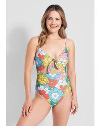 ModCloth The Siena One-piece Swimsuit - Multicolor