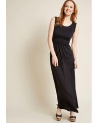 ModCloth - First Classic Maxi Dress In Black - Lyst