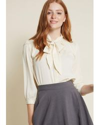 ModCloth - Vanilla Milk Button-up Top - Lyst