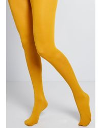 ModCloth Accent Your Ensemble Tights - Yellow