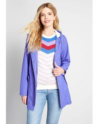 ModCloth At All Showers Raincoat - Blue