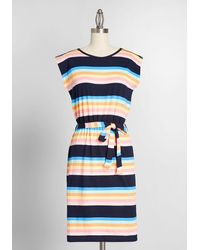 Sugarhill Sing Of Spring Cotton Cotton Dress - Blue