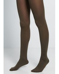 ModCloth Accent Your Ensemble Tights - Green