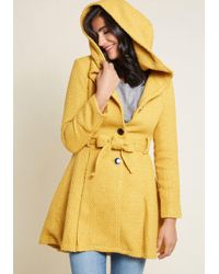 ModCloth - Once Upon A Thyme Hooded Coat - Lyst