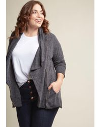 ModCloth - Airport Greeting Cardigan In Charcoal - Lyst